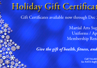 Gift certificates available through December 22, 2016.